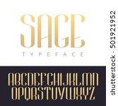 modern trendy font. vector... | Shutterstock .eps vector #501921952