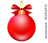 christmas red ball  on a white | Shutterstock . vector #501922972
