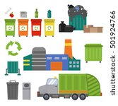 ecology waste  recycling set....   Shutterstock .eps vector #501924766