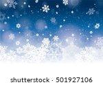 blue christmas winter background | Shutterstock .eps vector #501927106