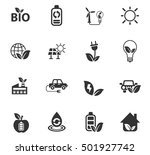 alternative energy web icons... | Shutterstock .eps vector #501927742