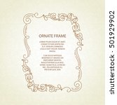 vector decorative frame.elegant ... | Shutterstock .eps vector #501929902