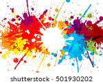 abstract splatter multicolor... | Shutterstock .eps vector #501930202