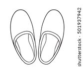 hand drawn home slippers.... | Shutterstock .eps vector #501937942