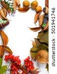 autumn frame | Shutterstock . vector #501941746