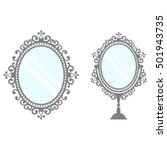 mirrors in vintage style vector | Shutterstock .eps vector #501943735