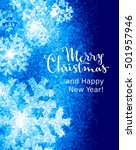 merry christmas and happy new... | Shutterstock .eps vector #501957946