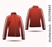 varsity jacket template for... | Shutterstock .eps vector #501959845