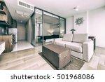 modern living room interior | Shutterstock . vector #501968086