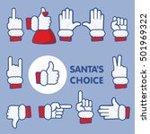 santa's choice christmas thumbs ... | Shutterstock .eps vector #501969322