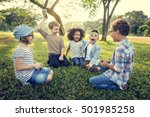 casual children cheerful cute... | Shutterstock . vector #501985258