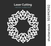 laser cutting template. round... | Shutterstock .eps vector #501992932