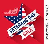 veterans day sale banner.... | Shutterstock .eps vector #502004515