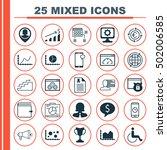 set of 25 universal editable... | Shutterstock .eps vector #502006585