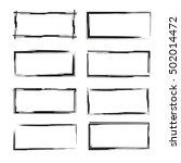 black grunge frames | Shutterstock .eps vector #502014472