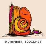 lord ganesha sketch | Shutterstock .eps vector #502023436