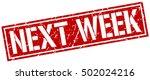 next week. grunge vintage next... | Shutterstock .eps vector #502024216