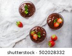 chocolate mousse with... | Shutterstock . vector #502028332