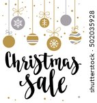 christmas sale. holiday card... | Shutterstock .eps vector #502035928