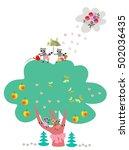 visual educational game for... | Shutterstock .eps vector #502036435