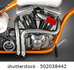 motorcycle engine v twin on... | Shutterstock . vector #502038442