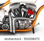 motorcycle engine v twin 3d | Shutterstock . vector #502038472