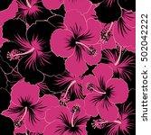 vintage vector floral seamless... | Shutterstock .eps vector #502042222