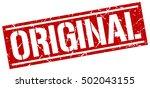 original. grunge vintage... | Shutterstock .eps vector #502043155