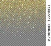 magic light effect. gold... | Shutterstock .eps vector #502045516