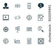 set of 16 universal editable... | Shutterstock .eps vector #502059892