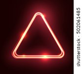 Red Abstract Neon Triangle...