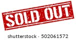 sold out. grunge vintage sold... | Shutterstock .eps vector #502061572