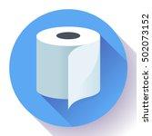 white simple flat toilet paper... | Shutterstock .eps vector #502073152