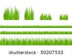 3 backgrounds of green grass... | Shutterstock .eps vector #50207533
