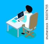 flat 3d isometric medical... | Shutterstock .eps vector #502076755