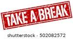 take a break. grunge vintage... | Shutterstock .eps vector #502082572