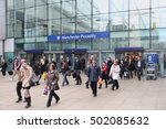 manchester  uk   april 23  2013 ... | Shutterstock . vector #502085632
