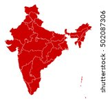 map   india | Shutterstock .eps vector #502087306