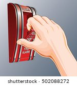 fire alarm is an illustration... | Shutterstock . vector #502088272