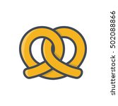 pretzel colored icon  bakery... | Shutterstock .eps vector #502088866