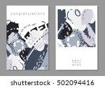 set of artistic creative...   Shutterstock .eps vector #502094416