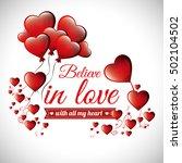 postcard romantic valentines... | Shutterstock .eps vector #502104502