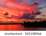 sunset in paradise when sailing ... | Shutterstock . vector #502108966