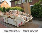 loaded dumpster near a... | Shutterstock . vector #502112992
