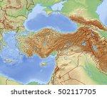relief map of turkey   3d... | Shutterstock . vector #502117705