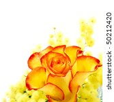 Red And Yellow Rose Arrangemen...