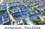 panoramic aerial typical multi... | Shutterstock . vector #502135306