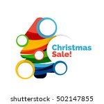 colorful christmas abstract... | Shutterstock .eps vector #502147855