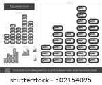 equalizer vector line icon... | Shutterstock .eps vector #502154095