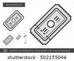 movie ticket vector line icon... | Shutterstock .eps vector #502155046